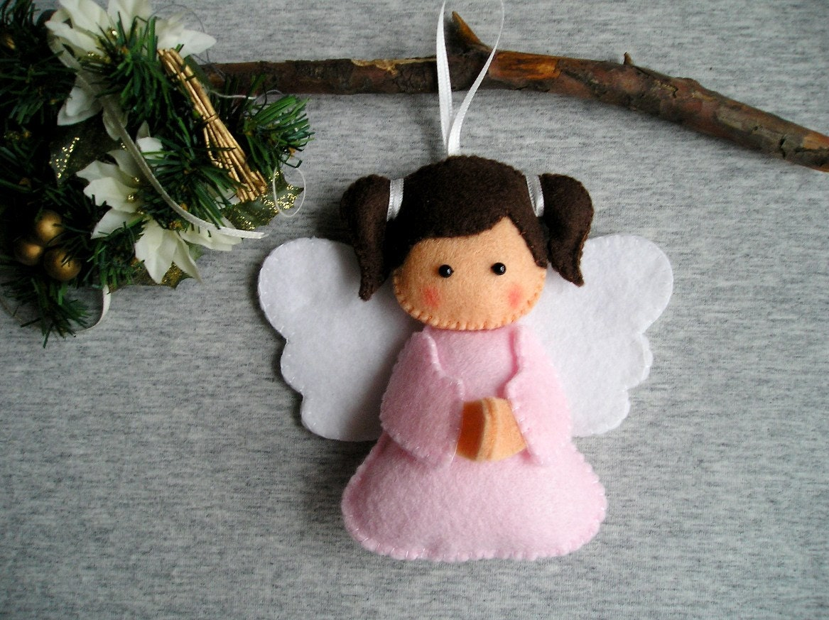 Felt Ornament Christmas Angel Home Decor Felt Christmas