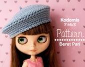 Patrón PDF - Boina Pari para Blythe - DIY