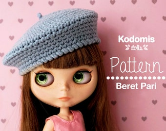 Pattern PDF - Beret Pari for Blythe - DIY