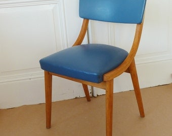 Kitchen Chair of the 50s blue vintage cocktail Chair, kitchen Chair, upholstered Chair, Rockabilly-style, Midcentury