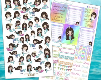 Sirena the Mermaid  Planner Stickers