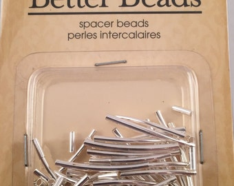 Beads, Tube Beads, Curved Tube Beads, Mixed Tube Beads, Silver Tube Beads, Curved Tube Beads, Spacer Beads, Curved Spacer Beads