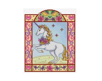 Summer Unicorn - Durene J Cross Stitch Pattern - DJXS 2213
