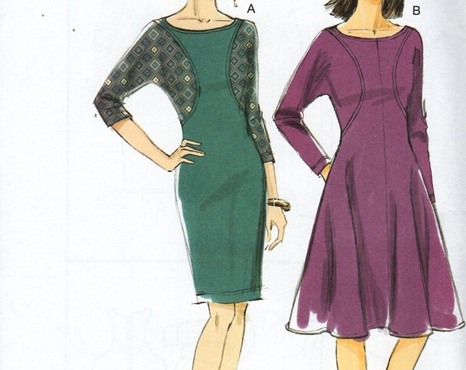 Vogue 8919 Sewing Pattern Free Us Ship  Inset Full Slim Dress Uncut Size 8 /16 16/24 Bust 31 32 34 36 38 40 42 44 46 plus  2013 Out of Print