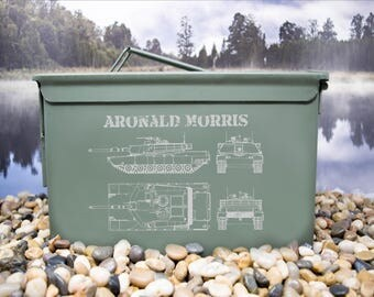 Tank Blueprint Design Personalized Ammo Can