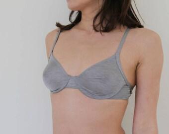 Vintage Triumph grey minimal bra top underwear.cup B 70-75-80
