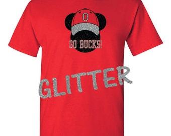 Mickey, Go Bucks glitter t shirt, shirt.