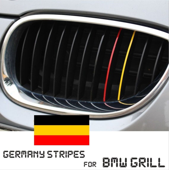 BMW Kidney Grill Germany German Stripes M Sport Sticker Decal - Bmw grille stripe decals