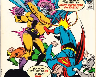 Super Friends 3 comic. Justice League, Wonder Woman, Aquaman, Superman, Batman and Robin. Childrens TV Show. 1977 DC Comics in VF (8.0)