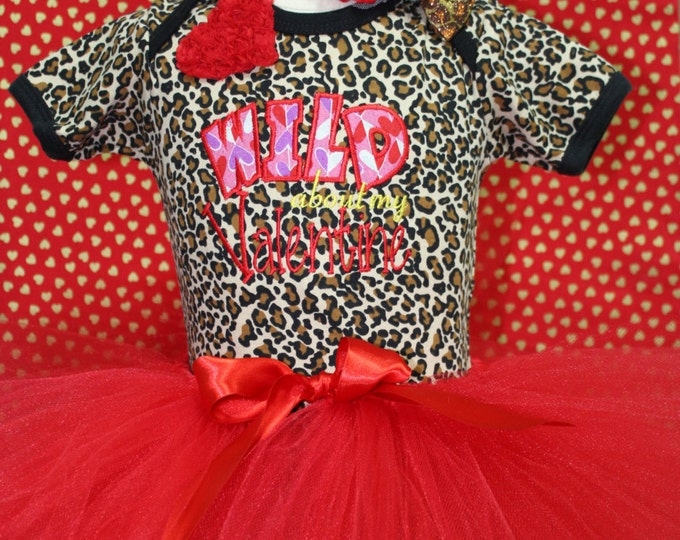 Girl Valentine outfit, Baby girls Valentine outfit,Red Valentines Day tutu,Animal Print bodysuit,Valentine headband,Valentines Day shirt