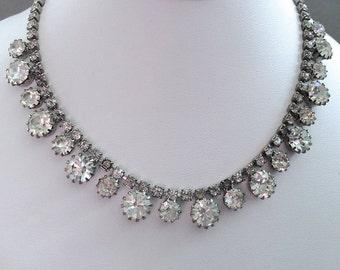Large Clear Rhinestone Necklace