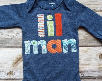 Lil Man Bodysuit-Little Man Bodysuit-New Baby Boy Gift-Baby-Baby Boy Christmas Gift-Cute baby boy gift-Trendy baby boy gift-lil man baby boy