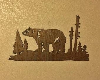 Bear Wall Art bears - bear mountain metal art