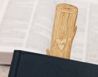 Personalized Bookmark Tree Carving Custom Book Lover 5th Anniversary Gift