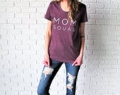 Mom Squad Tee // Heather Plum Mom Tee // Mom Tee // Mom Squad Shirt // Funny Mom T-Shirt // Mom Life Shirt