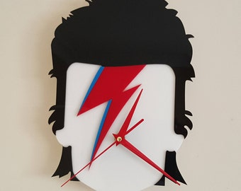 David Bowie Silhouette Clock