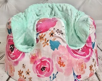 Indy Bloom Watercolor Mint Bumbo  Seat Cover