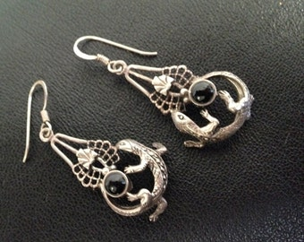 Sterling Lizard earrings <3