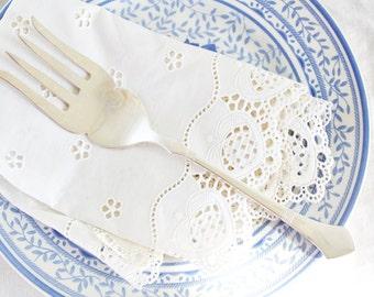 Vintage Cold Meat Fork: Silver Plate Cold Meat Fork, Large Serving Fork, Silver Plate Serving Fork, Vintage Serving Fork