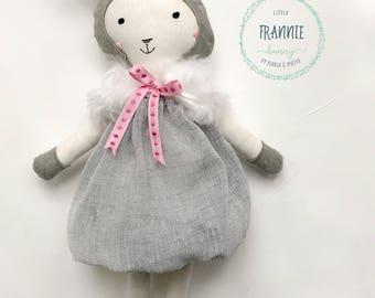 Handmade Ragdoll Soft Toy Frannie Bunny