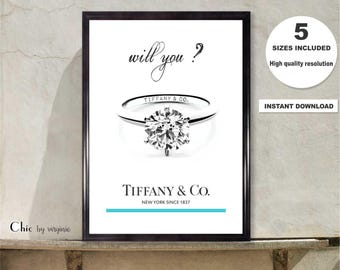 TIFFANY & CO print, Tiffany and Co Will You ? Art Poster, Instant Download, Audrey Hepburn, breakfast At Tiffany, Fashion Art, Printable Art