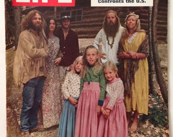 Vintage Life Magazine July 18, 1969 - The Youth Communes Cover / Coca Cola Ad