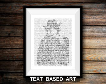 The Fourth Doctor Who Wall Art, Whovian Print Dr Who Gift for Men, Tom Baker (AU)