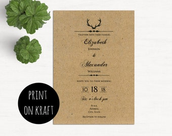 Deer Wedding Invites | Etsy