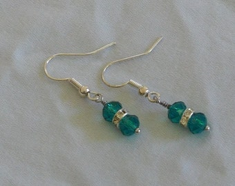 Malachite Green Swarovski Earrings