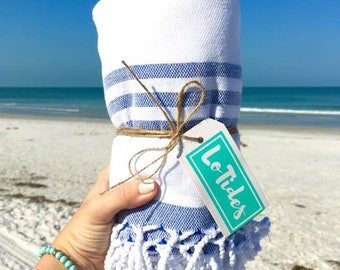Beach Blanket- Tassel Towel, Travel Towel, Bath, Bachelorette Party Gift, Turkish Towel