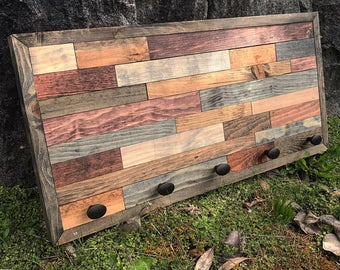 Rustic Coat Rack Wood Wall Art