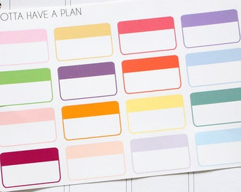 Planner Stickers Half Box Label for Erin Condren, Happy Planner, Filofax, Scrapbooking