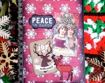 Christmas Journal, Notebook, Smash, Christmas Planner, Christmas Gift, Gift less than 15 Dollars