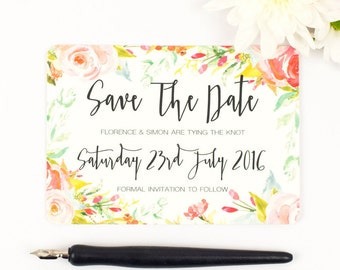 Floral Save the Date - Spring Blossom