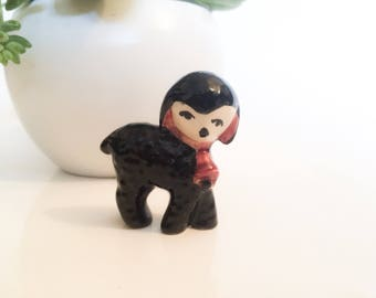 Vintage Black Lamb Sheep  Figurine
