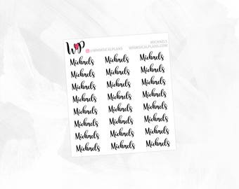 Michaels | Clear Matte Glossy Planner Stickers
