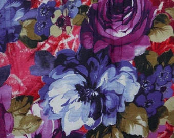 """Floral Print Fabric, Quilt Material, Cotton Fabric, Dress Fabric, Sewing Craft, Curtain Fabric, 41"""" Inch Designer Fabric By The Yard ZBC1757"""