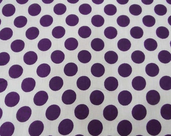 "Dressmaking Fabric, Home Decor, White Cotton Fabric, Polka Dot Print, Sewing Fabric, Quilt Material, 44"" Inch Fabric By The Yard ZBC7051C"