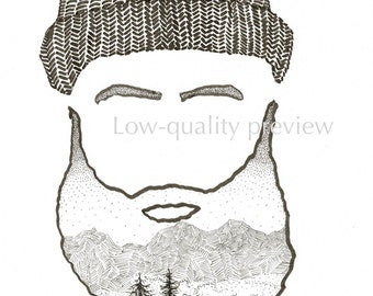Mountain Man - Silhouette Print
