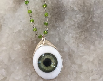 Glass Eye Bezel Pendant