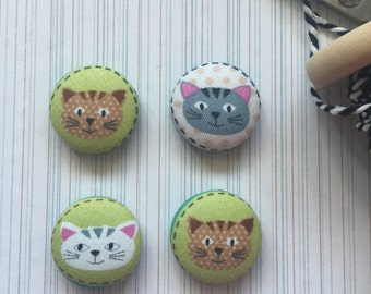 Cat Magnets, Cat Magnet, Refrigerator Magnets, Cubicle Magnets, Cat Gifts, Cat Lover Gift, Cubicle Magnets, Kitchen Decor, Kitty Gifts