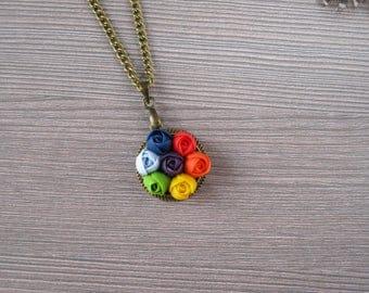 Yoga gifts Yoga jewelry Meditation necklace Yoga pendant Rainbow necklace Zen necklace Namaste necklace 7 chakra necklace Reiki necklace