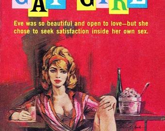Lesbian pulp vintage art print Gay Girl — pulp paperback cover repro