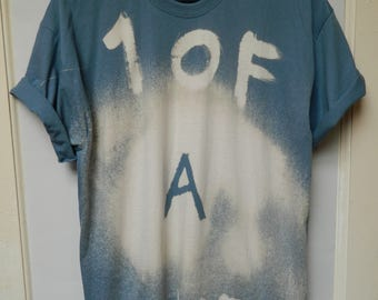 Tie Dye T-Shirt acid wash T-shirt hipster Retro 90s dip dye Purple men women unisex Galaxy top