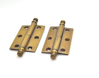 set of 2 x 25 door hinges brass victorian doorcabinet hardware - Decorative Hinges