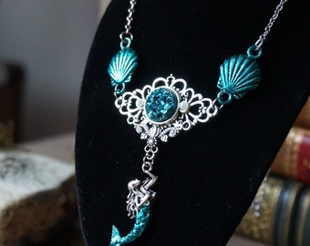 "Necklace ""Turquoise Mermaid"""