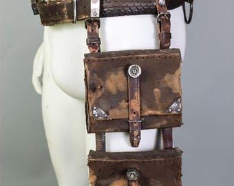 Festival Fanny Pack - Bullets Belt - Survivor Holster - Hip Bag - Leather Hip Bag - Belt Bag - Messenger Bag - Protected Purse - Handbag