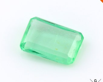 Colombian Emerald stone 1.21ct. Valuable gem! Natural Emerald cut green Emerald loose gemstone Fancy Faceted Crystal see VIDEO