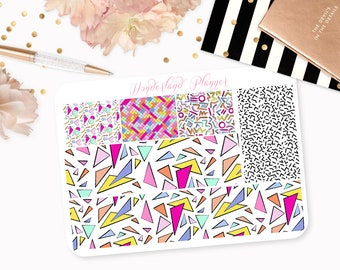 Love The 90s - Retro Vintage Themed Planner Stickers // Washi Strips // Perfect for Erin Condren Vertical Life Planner
