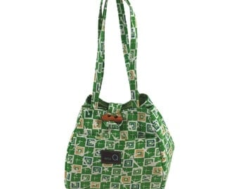 Della Q Rosemary Project Bag Crawford Print Limited Edition Cotton Print Sock Project Bag Small Project Bag Crochet Project Bag Knitting Bag